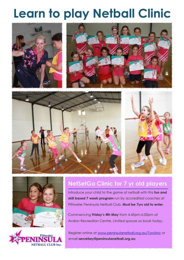 7yr old Introduction of Netball Clinic